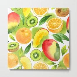 Watercolor fruits Metal Print