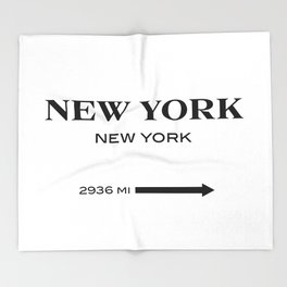 gossip girl sign Throw Blanket
