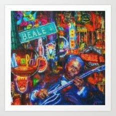 Beale Street Blues Art Print