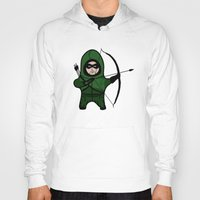 green arrow Hoodies featuring Green Arrow by YiannisTees