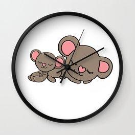 koala mom and child gift present Wall Clock