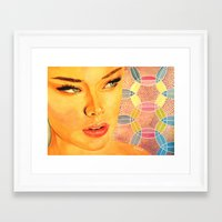 valentina Framed Art Prints featuring Valentina by  WOLF