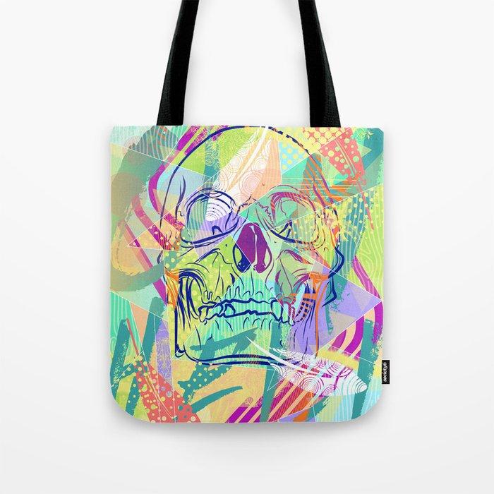 Oh Hell Sherbert Skull Tote Bag