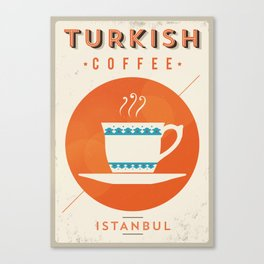Vintage Turkish Coffee Poster Canvas Print