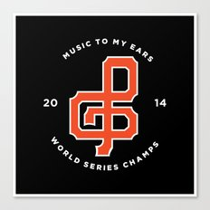 Giants World Series Celebration print Canvas Print