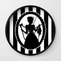 black widow Wall Clocks featuring Widow by babydark
