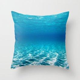 Aqua Blue Bliss Throw Pillow
