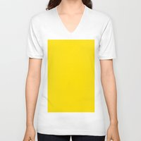 pantone V-neck T-shirts featuring Yellow (Pantone) by List of colors