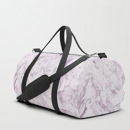 Elegant modern vintage white lilac violet marble Duffle Bag