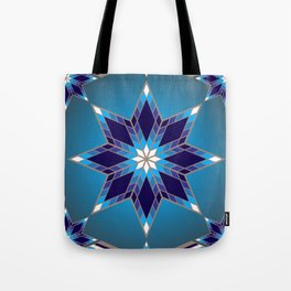 Morning Star Circle (Blue) Tote Bag