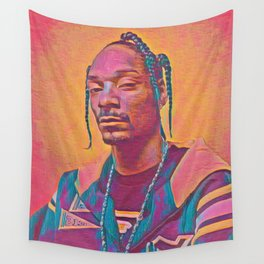 Snoop Dogg Thoughtful Artistic Illustration Acid Acrylic Style Wall Tapestry