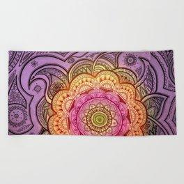 Colorful Mandala Beach Towel