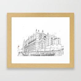 La Seu, the Cathedral of Palma de Mallorca Framed Art Print