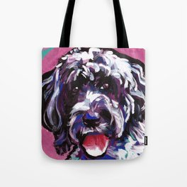 PWD Portuguese Water Dog Fun bright colorful Pop Art Dog Painting by Lea Tote Bag