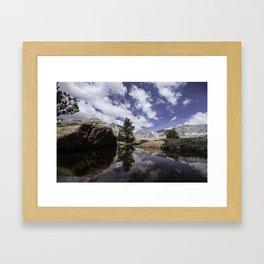 High Sierra Reflection Framed Art Print