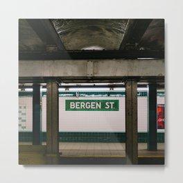 Brooklyn Subway III Metal Print