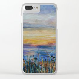 Sunrise over the Sea of Galilee Clear iPhone Case