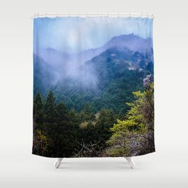 Japanese forest 2 Shower Curtain