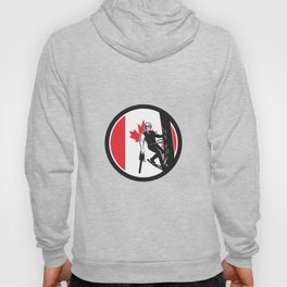 Canadian Tree Surgeon Canada Flag Icon Hoody