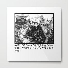 Falcon Flight W Metal Print