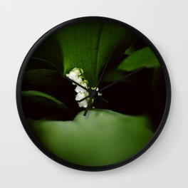 Dramatic Lilly of the Valley Wall Clock
