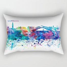 Venezia Italy Skyline Silhouette Impressionistic Blast Rectangular Pillow
