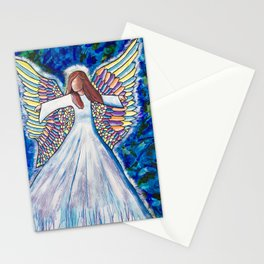 Angel of many colors Stationery Cards
