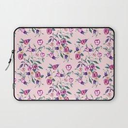 Pansy Purple on Ballerina Pink Laptop Sleeve