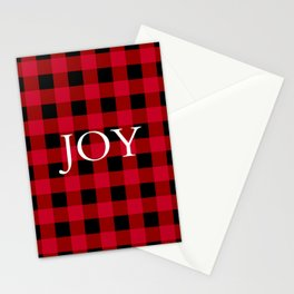 Joy Red Buffalo Check Stationery Cards