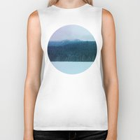 oregon Biker Tanks featuring Oregon Winter by Leah Flores