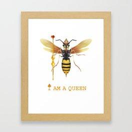 I am a Queen Framed Art Print