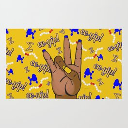 Sigma Gamma Rho Hand Sign By Vizzy Nakasso Rug