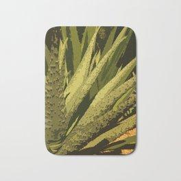 Aloe Vera Leafes Abstract Bath Mat