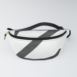 Letter Z Initial Monogram Black and White Fanny Pack