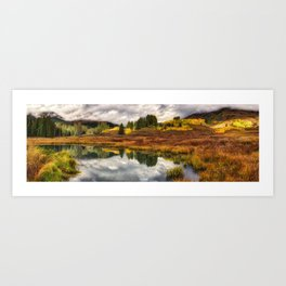 Transition Of The Seasons in Rocky Mountains Colorado by OLena Art Art Print