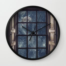 Space view Window-Moon shine Wall Clock