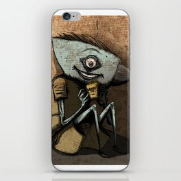 Anvil head eat french fries in the corner. iPhone Skin