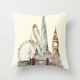 London skyline art Throw Pillow