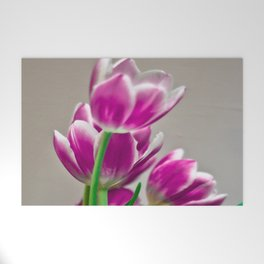Pink Tulips Welcome Mat