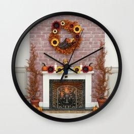Harvest Hearth Wall Clock