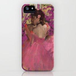 degas ballerinas pink iPhone Case