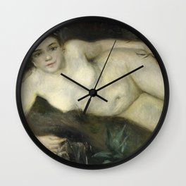 Pierre-Auguste Renoir - A Nymph By A Stream. Wall Clock