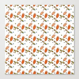 Pattern in Nordic Floral Style #11 Canvas Print