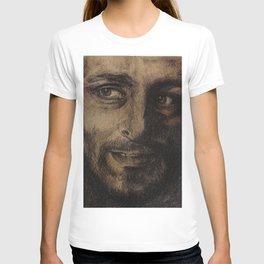 Underworld film. Coal portrait of lycan Lucian. actor Michael Sheen. Портрет углем ликана Люциана T-shirt
