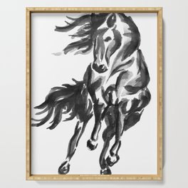 Sumi Horse Serving Tray