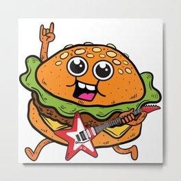 Burger Rocks Metal Print