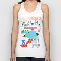 oakland Tank Tops featuring Oakland by June Chang Studio