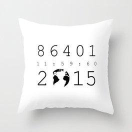 86401 Leap Second 2015 Throw Pillow