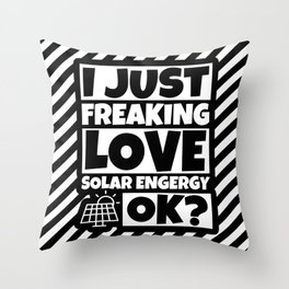 Solar Energy Lover Funny - Solar Humor Gifts Throw Pillow