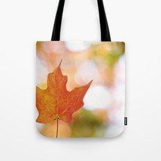 Maple leaf bokeh Tote Bag